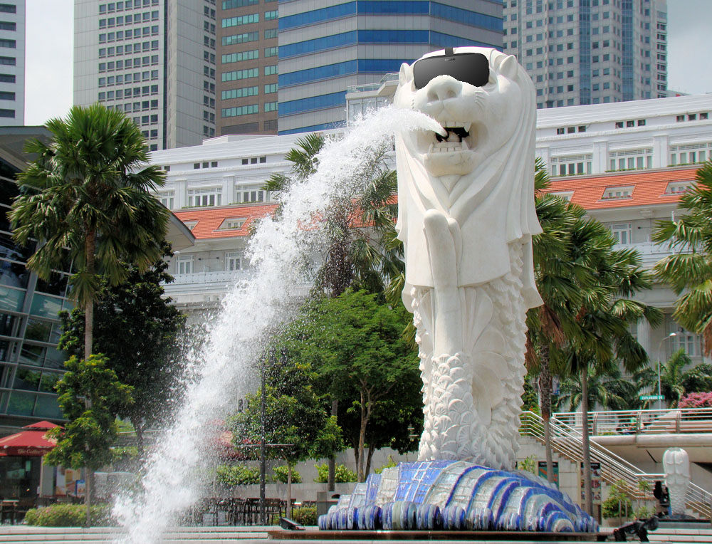 Merlion with VR