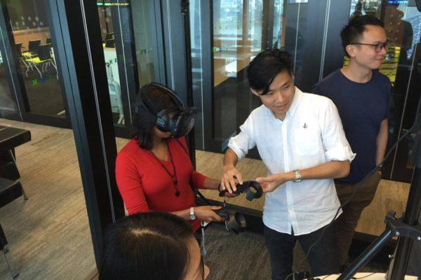 Demo VR capabilities at IBM Studios Singapore to their staff