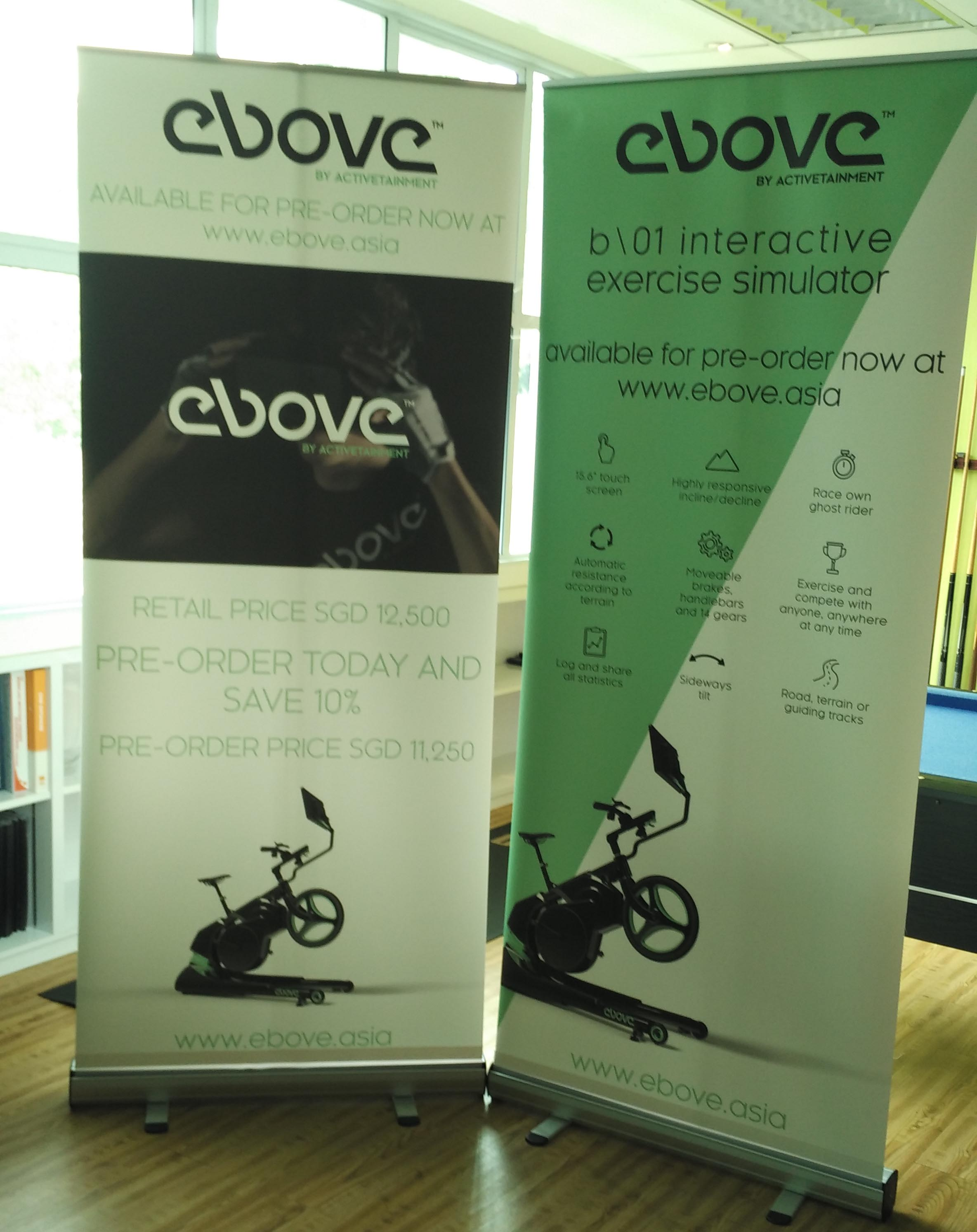 Ebove: Cycle outdoors when indoors